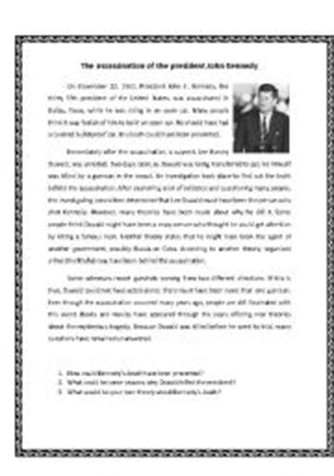 john f kennedy biography for elementary students english teaching worksheets kennedy
