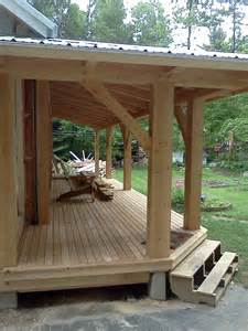Shed Roof Screened Porch Timber Frame Farmers Porch Black Dog Timberworks