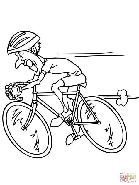 Ausmalbild: Rennrad fahren | Ausmalbilder kostenlos zum