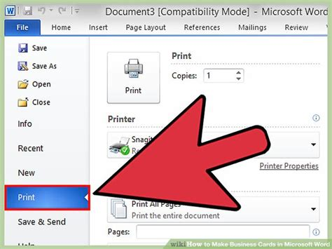 how to make business cards in microsoft word how to set up a business card file for print best