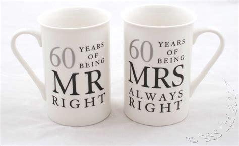 Wedding Anniversary Gift Mug wedding anniversary gift set mr mrs right mugs 10th 25th
