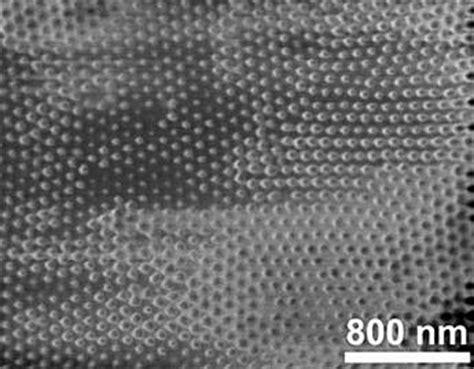 Crystallization Porous Alumina Template