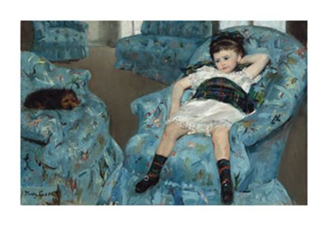 little girl in a blue armchair little girl in a blue armchair 1878 by mary stevenson