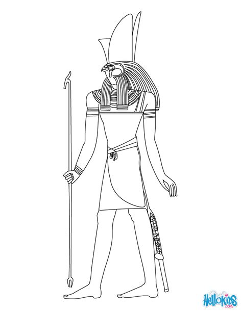 egyptian coloring book pages horus egyptian goddess gods coloring page coloring