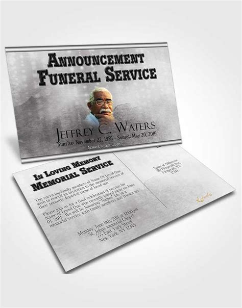 funeral announcement post card template bifold order of service obituary template brochure black