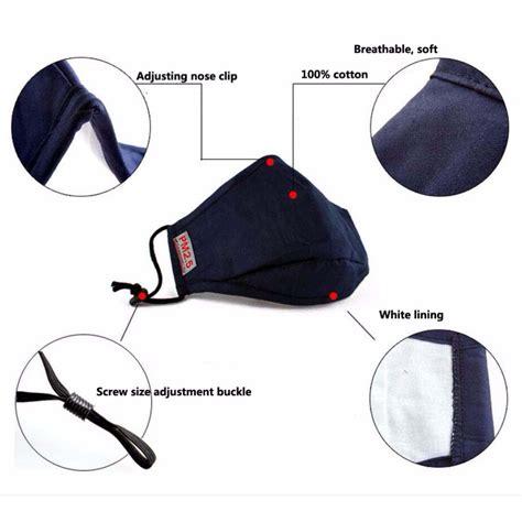 Masker Filter masker filter anti polusi hepa pm2 5 black
