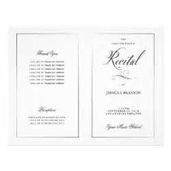 Musical program template music flyers amp programs zazzle