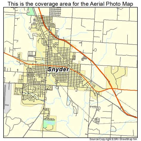 snyder texas map aerial photography map of snyder tx texas