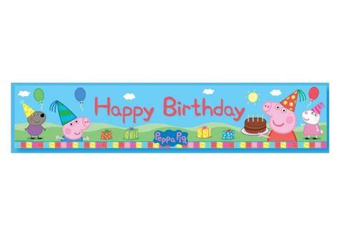 free printable birthday banner peppa pig peppa pig party supplies sweet pea parties