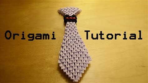 3d origami tutorial easy how to make a 3d origami tie tutorial youtube