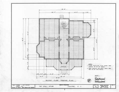 Stunning Framing Plans House Home Building Second Floor Plan John Milton Odell Concord