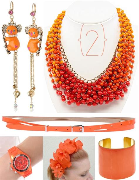 orange accessories image gallery orange accessories jewelry
