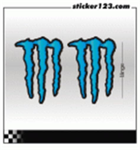 Monster Aufkleber Blau by Sticker123 Car Aufkleber