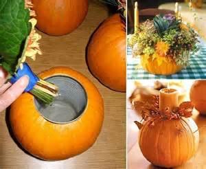 how to make a pumpkin vase centerpiece blog noshon it