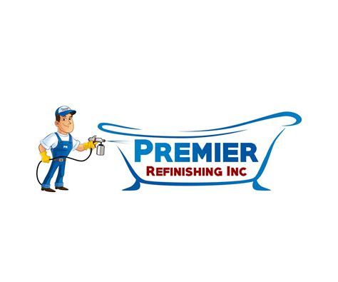 best bathtub refinishing company playful bold logo design for premier refinishing inc by dzenhar