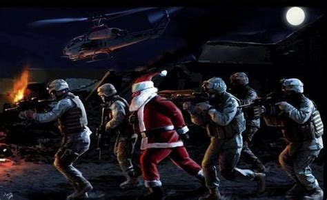 american warriors keeping santa safe god bless  troops merry christmas  happy