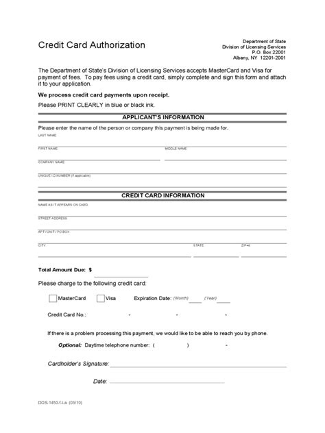 credit card authorization form 6 free templates in pdf