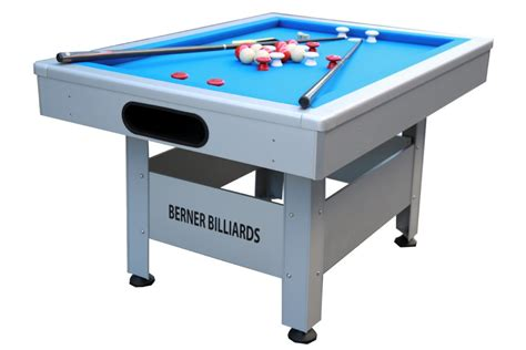 the orlando outdoor bumper pool table non slate bumper