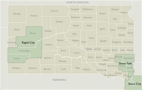 dakota zip code map metro area zip code maps of south dakota