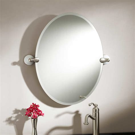 oval tilting bathroom mirror 31 quot seattle oval tilting mirror bathroom