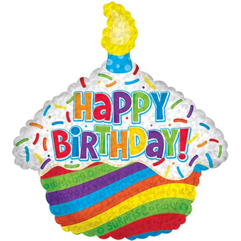 Summer Party Themes by Bulk Cupcake Shaped Quot Happy Birthday Quot Foil Balloons 26 Quot At