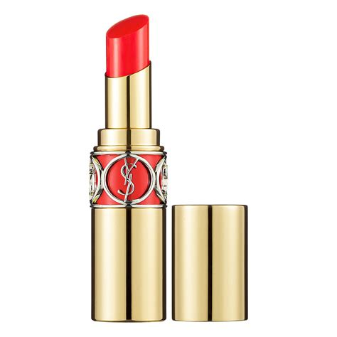 Lipstik Yves Laurent ysl volupte shine lipstick coral incandescent 12
