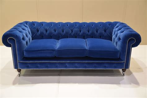 blue velvet settee royal blue sofas images