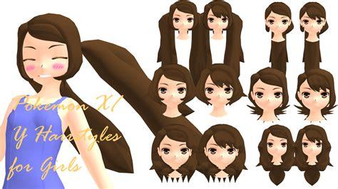hairstyles girl pokemon x mmd pokemon xy girls hairstyles dl by 2234083174 on deviantart