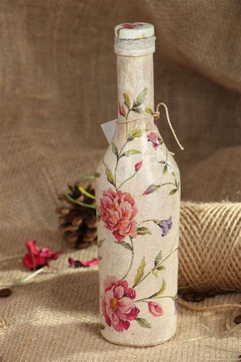 Decoupage Method - 630 best decoupage bottles images on