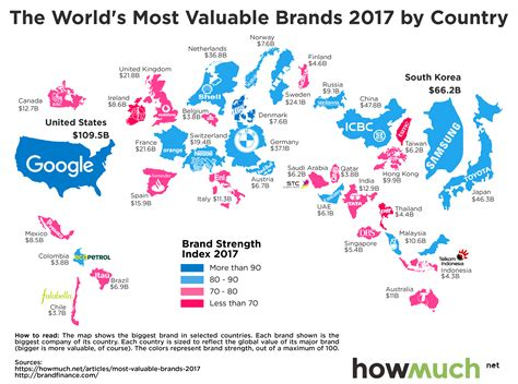 best of brand this map reveals the top 2017 brands for each country
