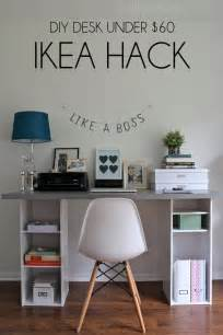 Diy Desk Ideas Ikea Hack Desk Diy For 60