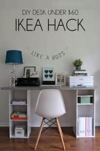 Ikea hack easy diy desk for under 60