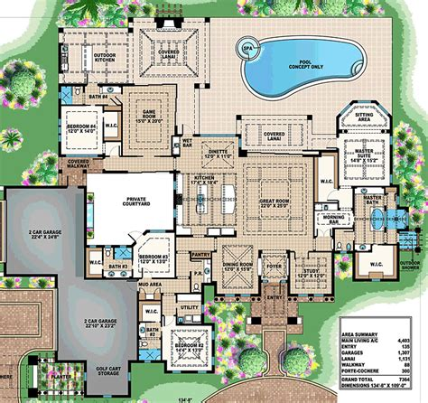 custom home plan luxury estate floor plan by abg alpha builders