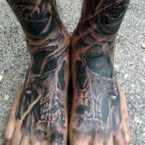 mens foot tattoo designs 90 foot tattoos for step into manly design ideas