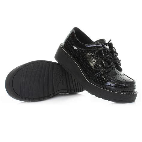 brogan shoes womens rocket brogan black patent flatform creeper