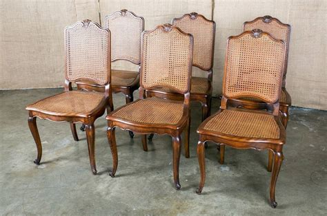 Set Of 6 French Louis Xv Style Cane Dining Chairs At 1stdibs Louis Xv Dining Chairs