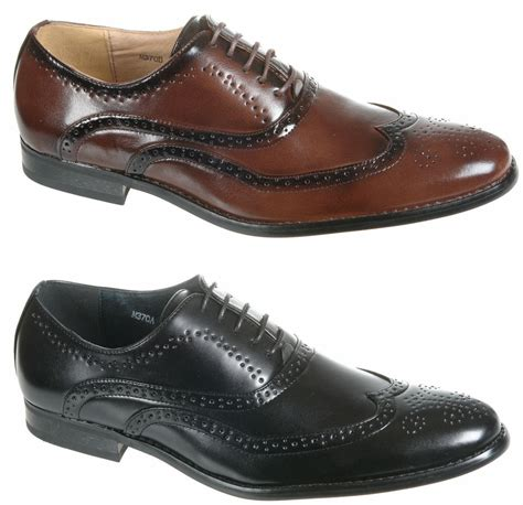 Brilante Mans Black Brown mens shoes black brown leather lined formal brogues size 6 7 8 9 10 11 12 ebay
