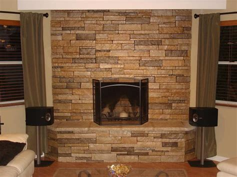 Stacked Brick Fireplace by Stacked For A Fireplace Simple Home Decoration