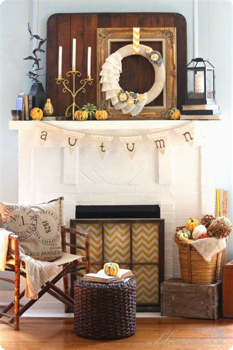 fall mantel decorations fall mantel decorated with reclaimed pallet wood