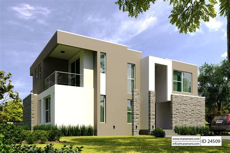 modern 4 bedroom house modern 4 bedroom house design id 24509 home plans by 435 | VIEW 02a