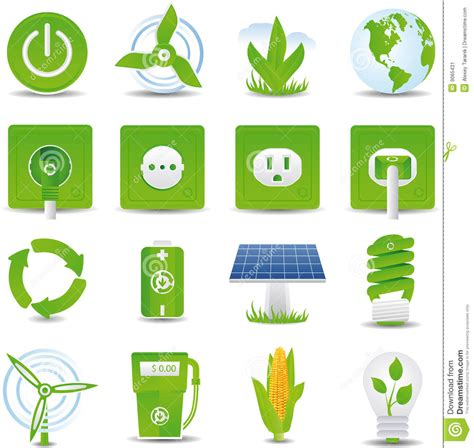 Sustainable House Plans green energy icon set stock vector image of electric
