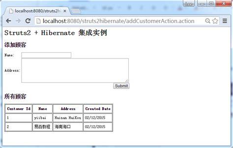 tutorialspoint hibernate tutorialspoint xml dtd struts2 hibernate集成实例 struts2教程