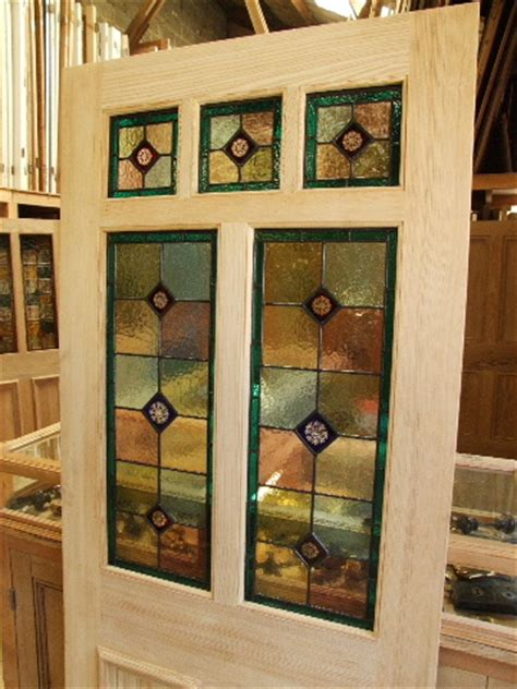 The Stained Glass Door Company Pitch Pine Stained Glass Front Door Stained Glass Doors Company