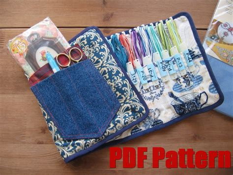 diy pattern holder diy pdf sewing pattern photo tutorial embroidery floss case