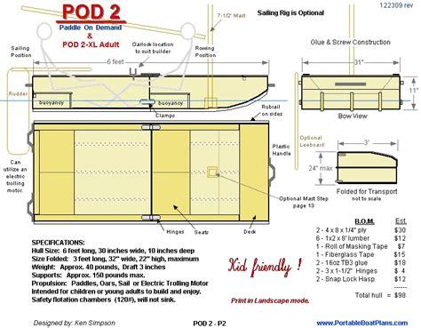 free boat plans pdf portable boat plans