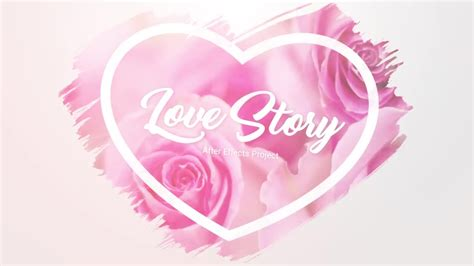 templates after effects free love slideshow brush effects love story after effects