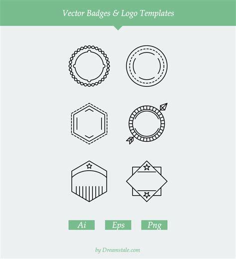 free logo templates vector freebie 6 vector badges logo templates dreamstale