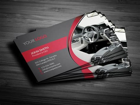 car radar business card template rent a car business card business card templates