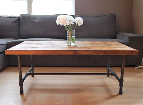 Legs For Coffee Table Metal Wood Coffee Table With Steel Pipe Legs Made Of Reclaimed