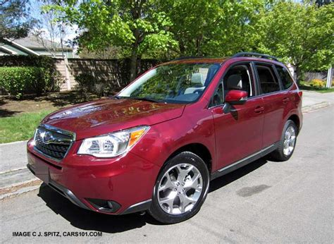 red subaru forester 2015 subaru forester red 200 interior and exterior images